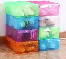 Boîte de rangement de chaussures en plastique,