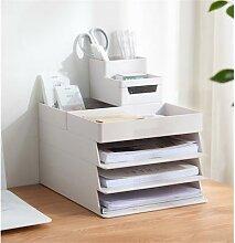 Boîte de rangement de Table à 4 couches A4,