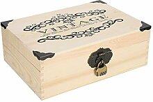 Boîte de rangement en bois à la mode durable