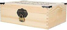 Boîte de rangement en bois commode durable avec