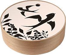 Boîte de rangement en bois Hirondelles taille L