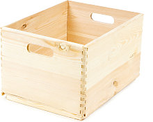 Boîte de rangement en bois naturel 2 poignées