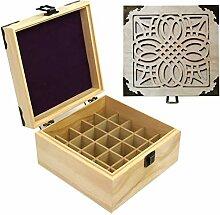 Boîte de rangement en bois pour huiles