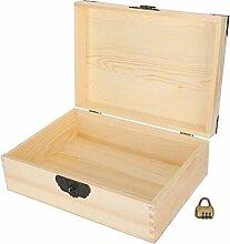 Boîte de rangement en bois pratique avec bijoux