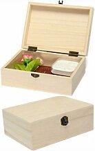 Boîte de rangement en bois sans Logo, boîte de