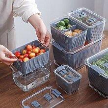 Boîte de rangement en plastique pour cuisine,