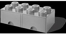 Boîte de rangement LEGO brick 8 avec 2