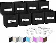 Boite de Rangement[Lot De 8] - Caisse Cube Pliable