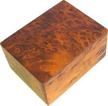 Boîte de rangement multifonction en bois sculpté