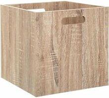 Boîte de rangement pliable en bois - 31 x 31 cm -