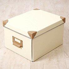 Boîte de rangement Poignée de papier de finition
