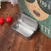 Boîte de rangement Portable en métal, 1 taille,