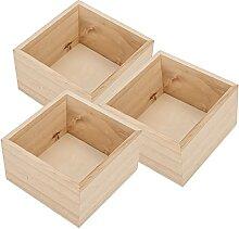 Boîte de rangement pour crayons Boîte en bois