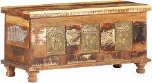 Boîte de rangement revêtement Bouddha 90x35x45
