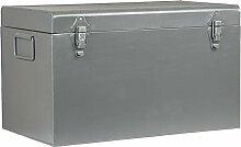 Boîte de rangement Vintage 60x40x35 cm XL Gris