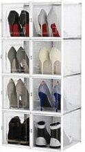 Boîtes à Chaussures Empilable, Lot de 8