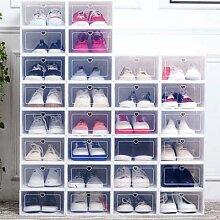 Boîtes à chaussures en plastique transparent,