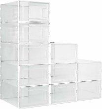 Boîtes à Chaussures Plastique Lot de 10, Boites