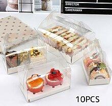 Boîtes à cupcakes transparentes avec plateau
