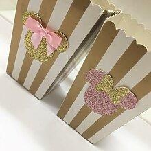 Boîtes à friandises dorées et argentées, à