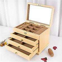 Boîtier de bijoux Boîte à bijoux en bois Boîte