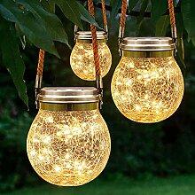 Bojim Lampe Solaire Exterieur Jardin, 2x Mason Jar