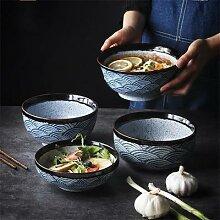 Bol à riz japonais en céramique, Ramen, salade,