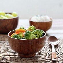 Bol à soupe/salade en bois de Style japonais, 1