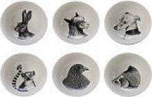 Bol Animals / Set de 6 - Porcelaine - Pols Potten