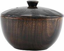 Bol, bol réutilisable en bois vintage de style