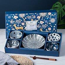 Bol de riz japonais en céramique, boîte-cadeau