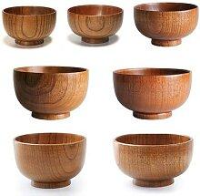 Bol en bois naturel de Style japonais, ustensile