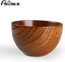Bol en bois naturel de Style japonais, vaisselle