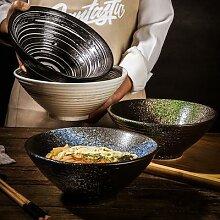 Bol en céramique japonais créatif, bol à soupe