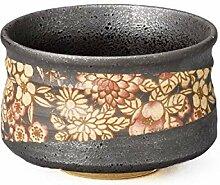 Bol Japonais à Matcha en Céramique Mino, 11.5cm,