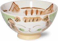Bol japonais Mino-yaki en céramique pour riz,