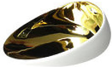 Bol Jomon mini / 10 x 8 cm - cookplay blanc/or en