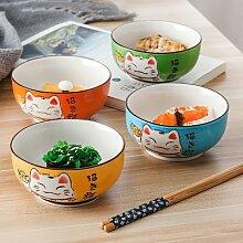 Bol rond japonais en céramique pour chat