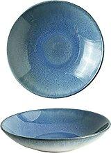 Bols de soupe bols céramique glaçure bleu
