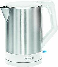 Bomann WKS 3002 CB Bouilloire 1,5 L Inox/Blanc
