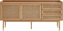 Bombong - Buffet 2 portes 2 tiroirs en bois et
