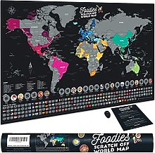 Bonanzana - Carte du Monde à Gratter avec 25