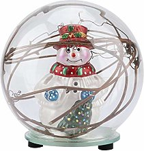 Bonhomme de neige modèle boule de verre lampe à