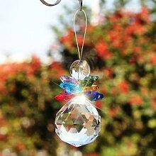 Bonhommes de neige en cristal, perles de lustre,