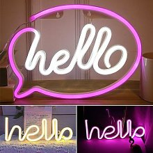 Bonjour lumière néon LED applique murale magasin