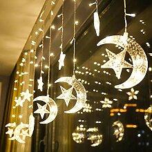 BONNIO Rideau de fenêtre Lumières Lune Étoile