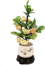 Bonsaï Artificiel Feng shui jade plantes en pot