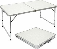 Boomersun Table de Camping Table de Jardin Pliable