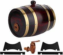 Borlai Tonneau à vin vintage en bois de chêne -