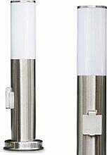 Borne d'éclairage Caserta en acier et plastique